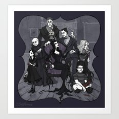 The Addams family Art Print