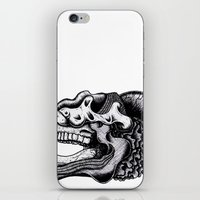 Illustration Of A Ghost iPhone & iPod Skin