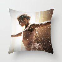 Angel Ballerina Throw Pillow