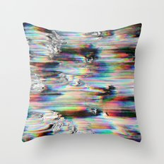Spectral Wind Erosion Throw Pillow