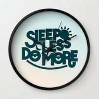 SLEEP LESS DO MORE Wall Clock