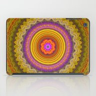 Grunge Flower In A Zigza… iPad Case