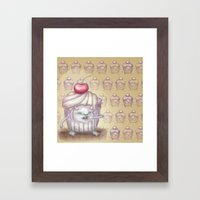 There Is A Monster In My… Framed Art Print
