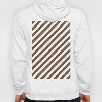 Diagonal Stripes (Coffee/White) Hoody