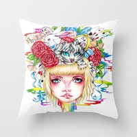 You're All Mad Throw Pillow
