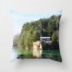 Cabin on the Lake Throw Pillow
