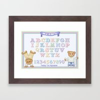 Teddy Bear Alphabet ABC's Framed Art Print
