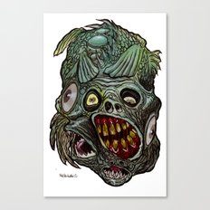 Heads of the Living Dead  Zombies: Fish Fusion Zombie Canvas Print