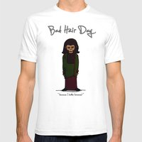 bad hair day no:1 / Planet of the Apes Mens Fitted Tee White SMALL