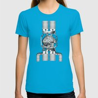 Mother Brain Super Metro… Womens Fitted Tee Teal SMALL