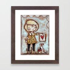 Work of Heart by Diane Duda Framed Art Print