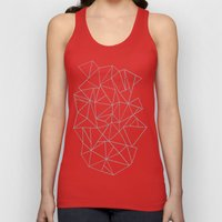 Abstraction Outline Grey Unisex Tank Top