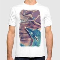 Autumn Fox Mens Fitted Tee White SMALL