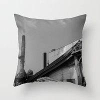 Dirty Industry Throw Pillow
