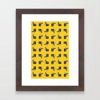 camera 04 pattern Framed Art Print