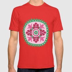 Suzani III Mens Fitted Tee Red SMALL
