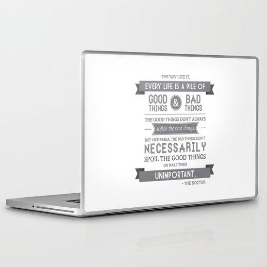 Good Things & Bad Things (gray) Laptop & iPad Skin