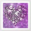 heart,circles Art Print