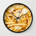 Diamonds & French Fries Wall Clock