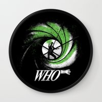 The Name's Who Wall Clock