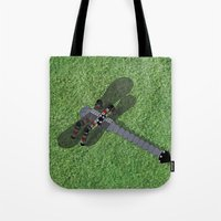 Mechanical Dragonfly Tote Bag