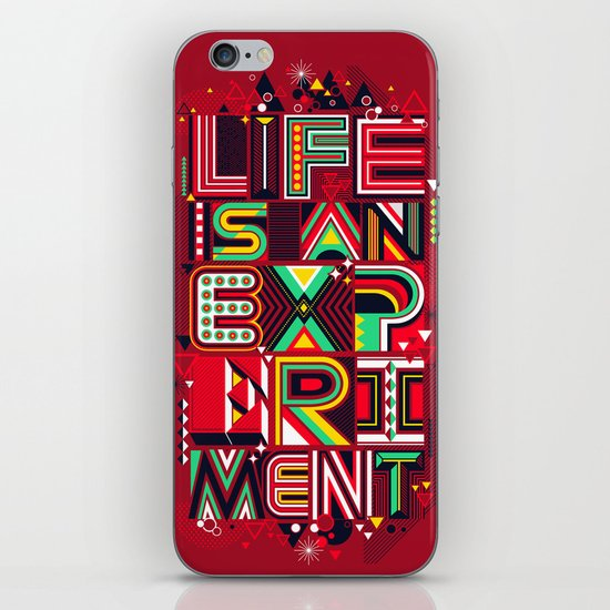 Life is an Experiment iPhone & iPod Skin