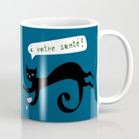 party animals - french cat Mug