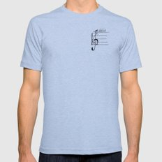 Treble Clef Cat Mens Fitted Tee Athletic Blue SMALL