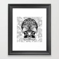 Sugar Skull.  Framed Art Print