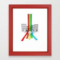 Spectrum in Town Framed Art Print