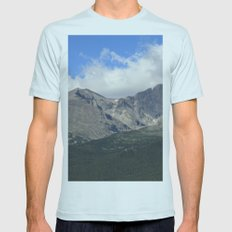 Longs Peak Mens Fitted Tee Light Blue SMALL