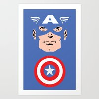 Captain A Art Print
