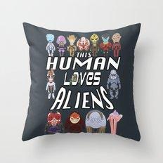 Aliens LOVE Throw Pillow