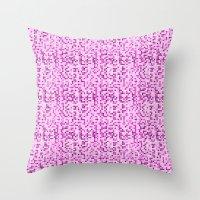 Pink World Throw Pillow
