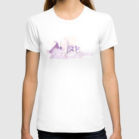 Watercolor landscape illustration_Istanbul T-shirt