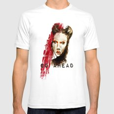 Go ahead Mens Fitted Tee SMALL White