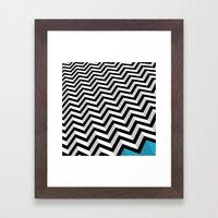 ZIGZAG Framed Art Print