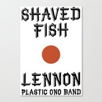 Shaved fish Canvas Print
