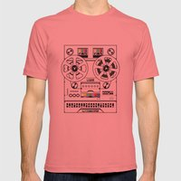 1 kHz #6 Mens Fitted Tee Pomegranate SMALL