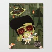 Elvis Zombie Canvas Print