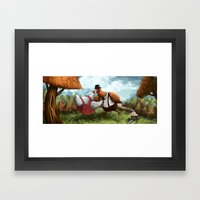 Chicken Dancing Framed Art Print