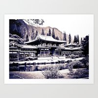 Pure Zen Of Byodo Temple Art Print