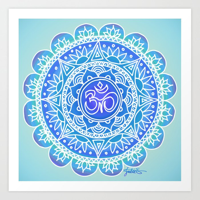 blue ohm mandala design yoga