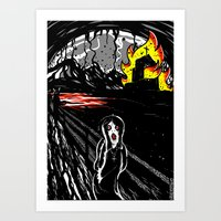 Black Scream Art Print