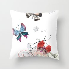 Butterfly Spring Throw Pillow