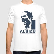 Albizu - Vintage Mens Fitted Tee SMALL White
