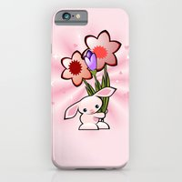 Little Pink Bunny With Flowers iPhone 6 Slim Case