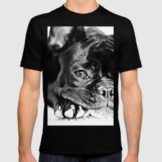 French Bulldog SMALL Mens Fitted Tee Black