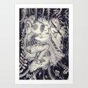Pianist (b/w version) Art Print