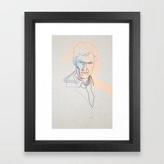 One line True Detective: Rust Cohle Framed Art Print